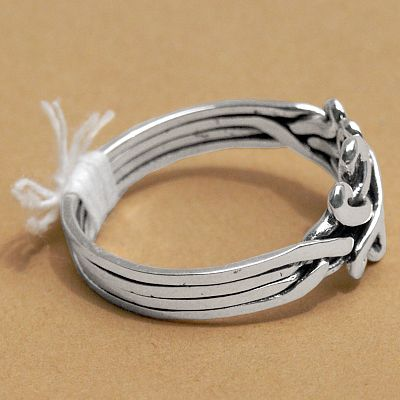 crossed hearts puzzle ring celtic rings claddagh rings wedding rings and more - Puzzle Wedding Rings