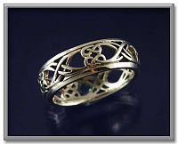 Double Path Celtic Band - Celtic Rings, Claddagh Rings, Wedding Rings and More, Handfasting & Wedding, Sterling Silver Rings - Celtic Rings, Pagan Rings, Claddagh Rings, Unusual Rings, Nature Rings, Wedding Rings, Engagement Rings