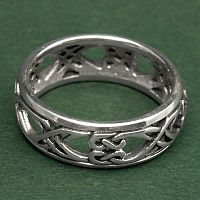 Silver Double Path Celtic Band