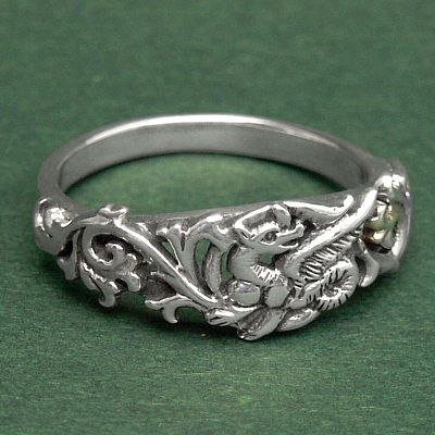 Silver Fairy Dragon Ring