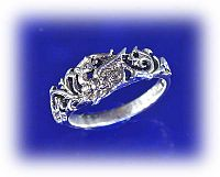 Fairy Dragon Ring - Celtic Rings, Claddagh Rings, Wedding Rings and More, Fairies, Here Be Dragons!, Sterling Silver Rings - Celtic Rings, Pagan Rings, Claddagh Rings, Unusual Rings, Nature Rings, Wedding Rings, Engagement Rings,