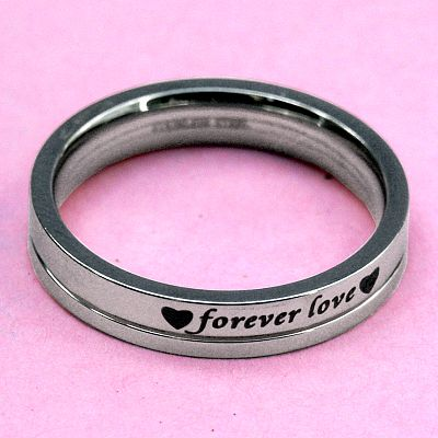 """Forever Love"" Steel Ring"