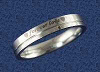 """Forever Love"" Steel Ring - Celtic Rings, Claddagh Rings, Wedding Rings and More!, Stainless Steel Jewelry, Stainless Steel Rings, Hearts & Romance, Wedding & Engagement Rings - Stainless Steel"
