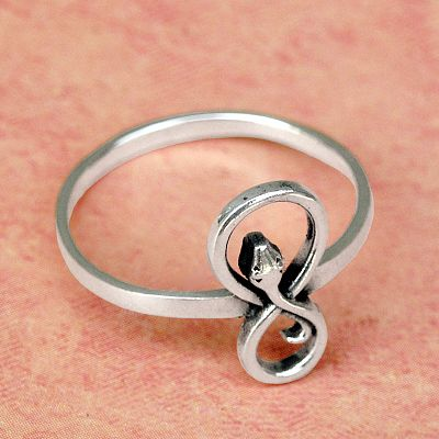 Silver Infinity Snake Ring