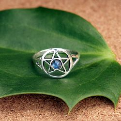 Labradorite Pentacle Ring