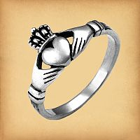 Silver Irish Claddagh Ring