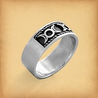 Silver Triple Moon Ring