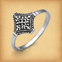 Silver Pirate's Treasure Ring