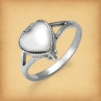 Silver Heart Poison Ring