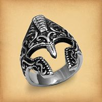 Ancient Warrior Steel Ring