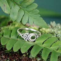 Silver Celtic Moon Ring
