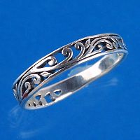 Vine Ring - Sterling Silver Rings - Celtic Rings, Pagan Rings, Claddagh Rings, Unusual Rings, Nature Rings, Wedding Rings, Engagement Rings, Trees & Greenman
