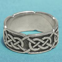 "Silver ""Síorghrá"" Celtic Ring"
