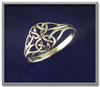 Filigree Celtic Ring - Celtic Rings, Claddagh Rings, Wedding Rings and More, Sterling Silver Rings - Celtic Rings, Pagan Rings, Claddagh Rings, Unusual Rings, Nature Rings, Wedding Rings, Engagement Rings