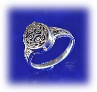 Spirals and Knots Poison Ring - Celtic Rings, Claddagh Rings, Wedding Rings and More!, Poison Rings, Locket Rings, Box Rings, Compartment Rings, Potion Rings, Knotwork, Dark Side, Dangerous Jewelry, Gifts for Almost Anyone, Celtic Jewelry, New Lower Silver Prices, Sterling Silver Rings,
