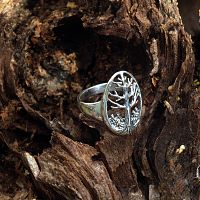 Silver Tree of Life Ring