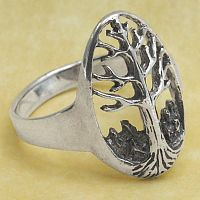 Tree of Life Ring - Celtic Rings, Claddagh Rings, Wedding Rings and More, Trees & Greenman, Sterling Silver Rings - Celtic Rings, Pagan Rings, Claddagh Rings, Unusual Rings, Nature Rings, Wedding Rings, Engagement Rings