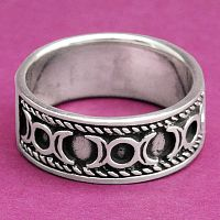 Triple Moon Ring - Celtic Rings, Claddagh Rings, Wedding Rings and More!, Sterling Silver Rings, Moons & Stars, Goddess