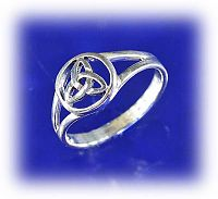 Triquetra Ring - Celtic Rings, Claddagh Rings, Wedding Rings and More, Sterling Silver Rings - Celtic Rings, Pagan Rings, Claddagh Rings, Unusual Rings, Nature Rings, Wedding Rings, Engagement Rings