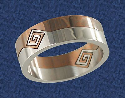 Two-Tone Split Ring - Clearance Jewelry, Clearance