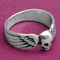 Winged Skull Ring - Celtic Rings, Claddagh Rings, Wedding Rings and More, Sterling Silver Rings - Celtic Rings, Pagan Rings, Claddagh Rings, Unusual Rings, Nature Rings, Wedding Rings, Engagement Rings,