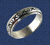 X's and O's Spin Ring - Clearance Jewelry, Clearance