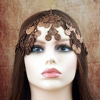 Copper Coin Fantasy Headpiece - Hair Accessories
