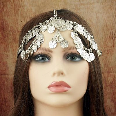 Silver Coin Fantasy Headpiece