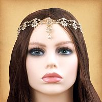 Bejeweled Flower Fantasy Headpiece