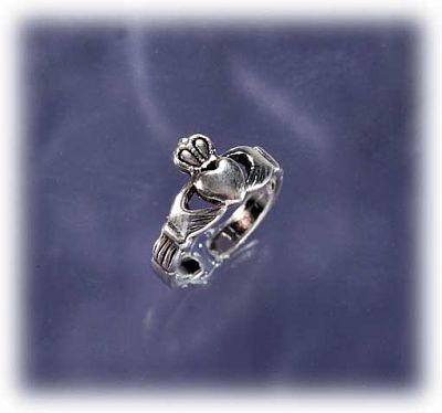 Claddagh Toe Ring - Sterling Silver - Toe Rings, Claddaghs, Hearts & Romance