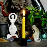 Yellow Mini Chime Ritual Spell Candles
