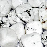 Howlite Tumbled Gemstones