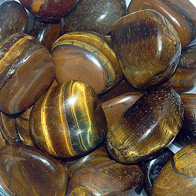 Tiger Eye Tumbled Gemstones