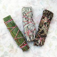 Smudge Bundle Sampler - Sage and Other Herbs, Magical Tools, Altar Accessories