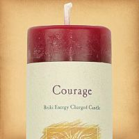 Herbal Magic Courage Pillar Candle