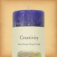 Herbal Magic Creativity Pillar Candle