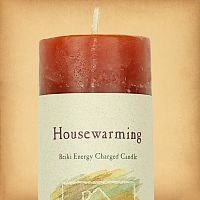 Herbal Magic Housewarming Pillar Candle