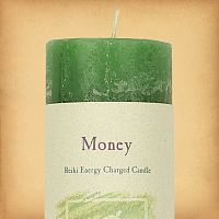 Herbal Magic Money Pillar Candle