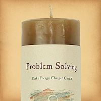 Herbal Magic Problem Solving Pillar Candle