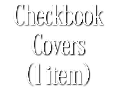 Search Results for Checkbook Covers (1 item)