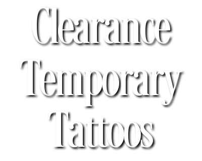 Clearance Temporary Tattoos