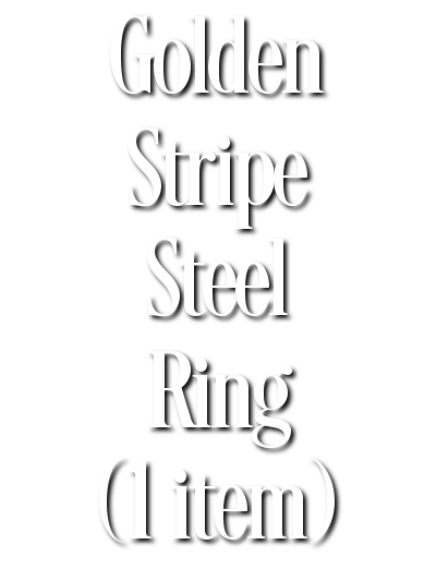 Search Results for Golden Stripe Steel Ring (1 item)