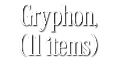Search Results for Gryphon, (11 items)