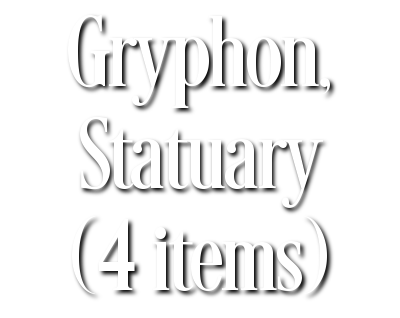 Search Results for Gryphon, Statuary (4 items)
