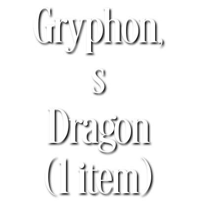 Search Results for Gryphon, s Dragon (1 item)