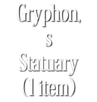 Search Results for Gryphon, s Statuary (1 item)