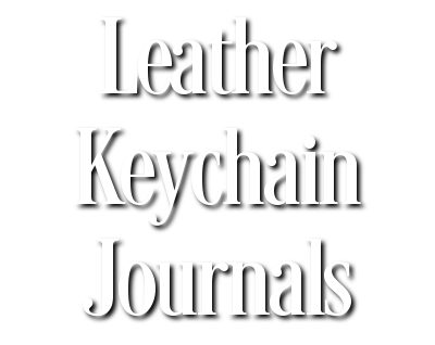 Leather Keychain Journals