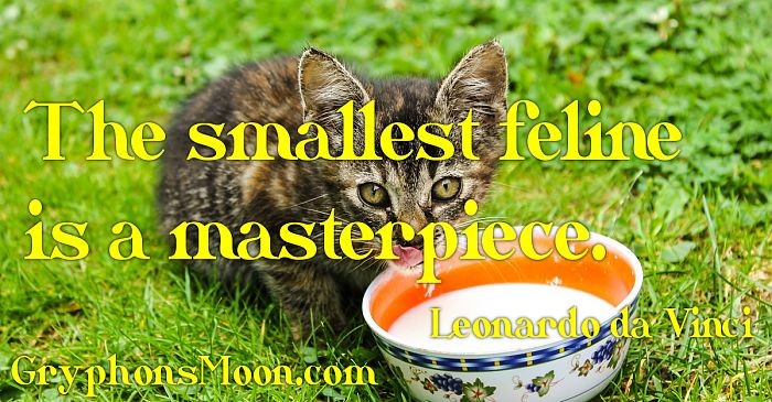 The smallest feline is a masterpiece. - Leonardo da Vinci